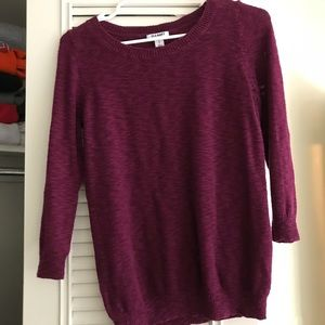 Burgundy 3/4 sleeve sweater
